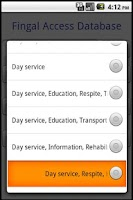 Screenshot of Fingal Access Database