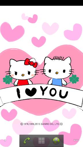 [ハローキティ]恋するキティライブ壁紙