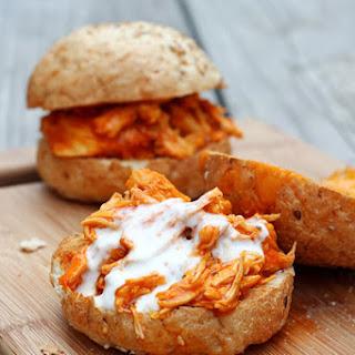 Shredded Buffalo Chicken Sandwiches (Slow Cooker)