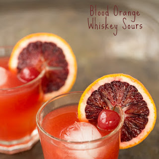 Blood Orange Whiskey Sours | Tipsy Tuesday