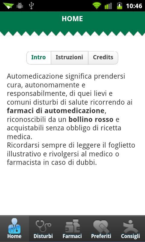 Automedicazione- screenshot