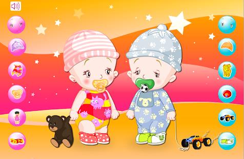 嬰兒雙胞胎裝扮