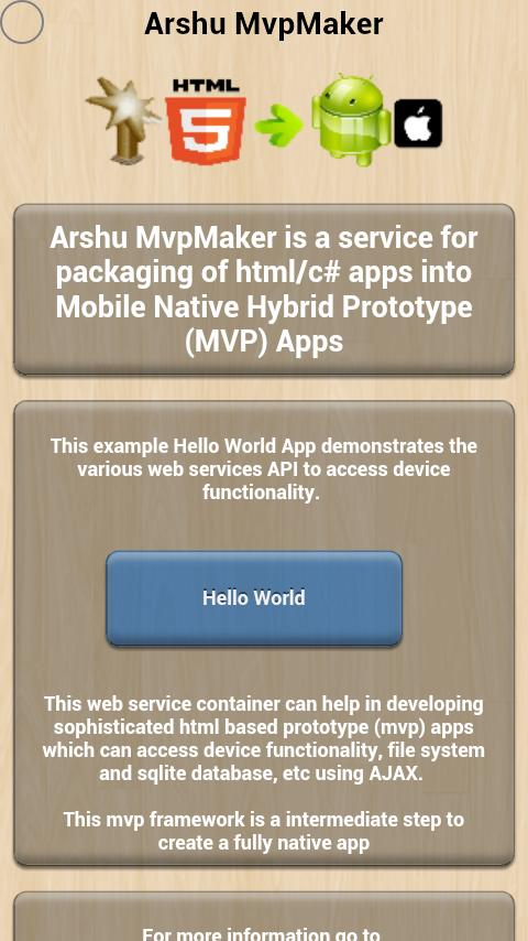 MvpMaker - Mobile Apps - screenshot