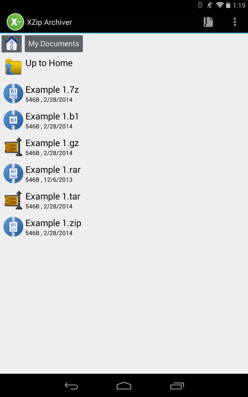 XZip - zip unzip unrar utility Screenshot 4
