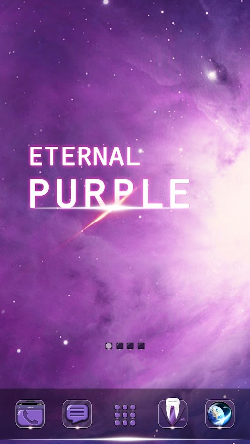 Eternal Purple GO Theme- screenshot