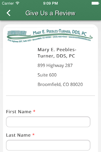 【免費醫療App】Mary E Peeples-Turner, DDS, PC-APP點子