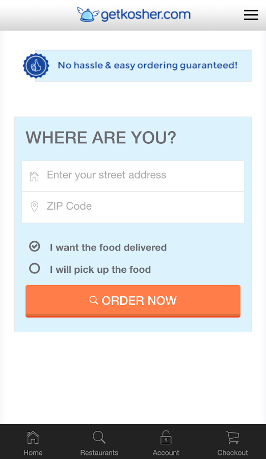 Get Kosher - Order Kosher Food- screenshot