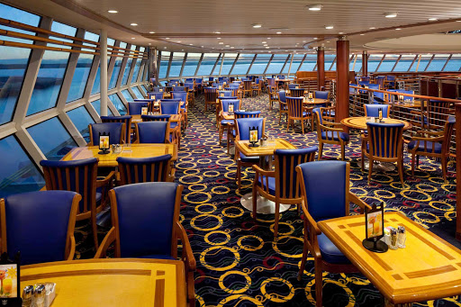 Rhapsody-of-the-Seas-Windjammer - The Windjammer Café, on deck 11 of Rhapsody of the Seas, offers a large buffet for breakfast, lunch, and dinner.