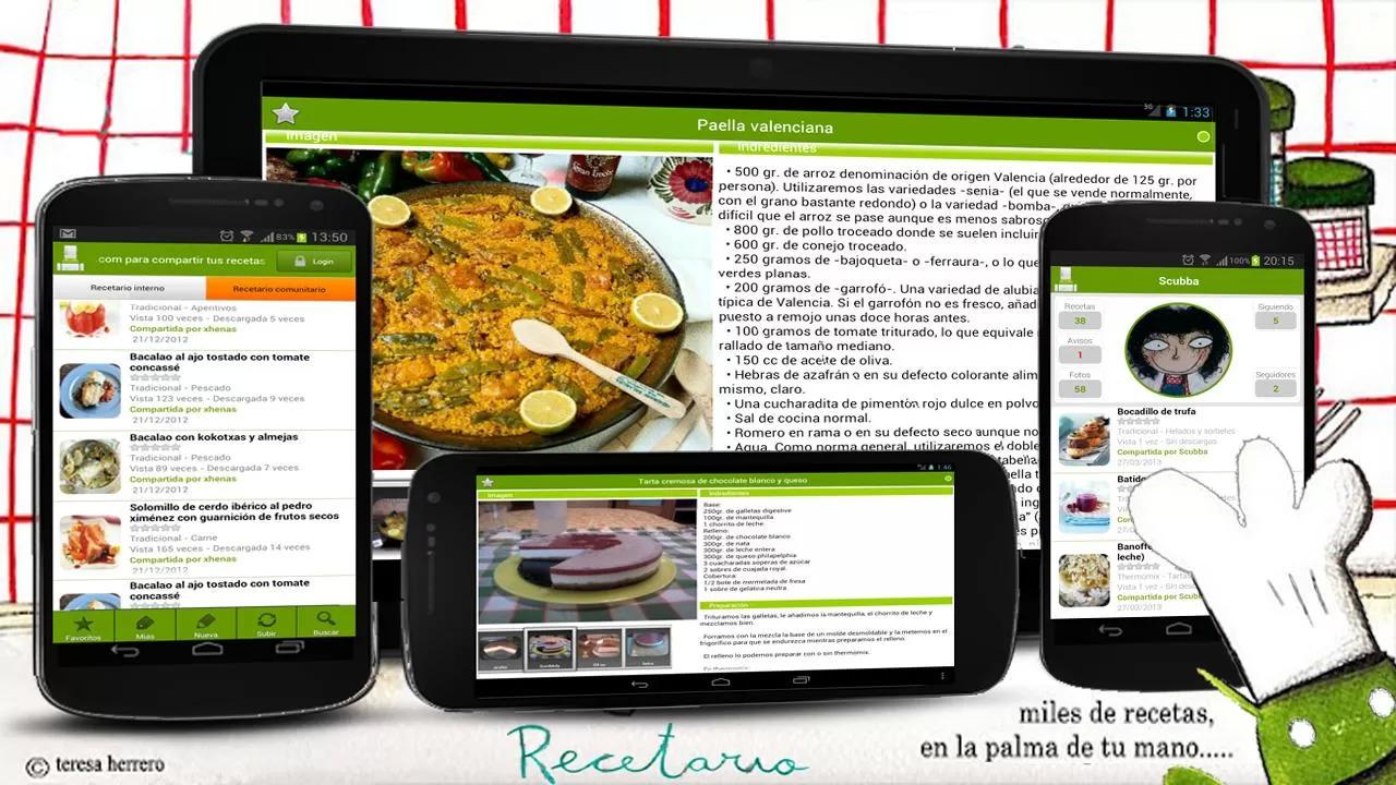 Recetario, recetas de cocina - screenshot