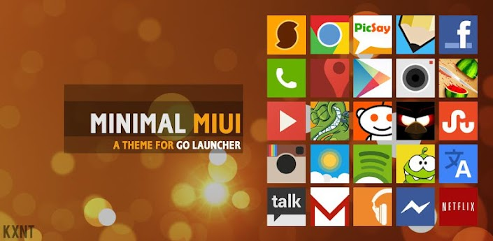 Go Launcher Minimal MIUI Theme apk