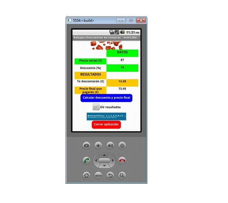 Rebajas/Descuentos-Matemáticas - screenshot