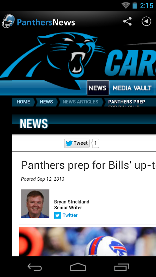 Panthers News - screenshot
