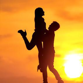 Happiness by Joel  Pangoe Rihingan - People Couples ( silhouette,  )