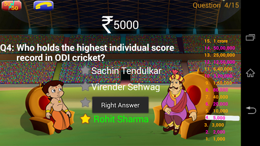 Cricket Quiz with Bheem 1.0.6 screenshots 1