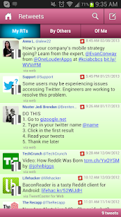 TweetCaster Pink for Twitter - screenshot thumbnail