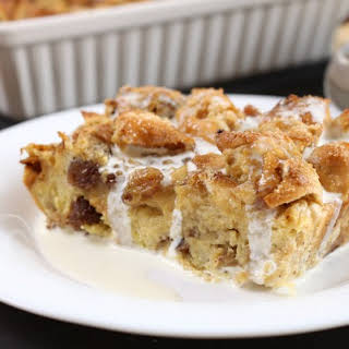 Hot Cross Bun Bread And Butter Pudding.