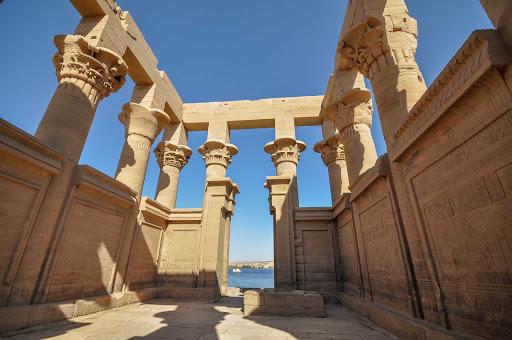 Aswan-Egypt - Trajan's Kiosk near Aswan, Egypt.