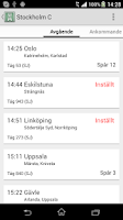 Screenshot of Train Info Sweden (beta)