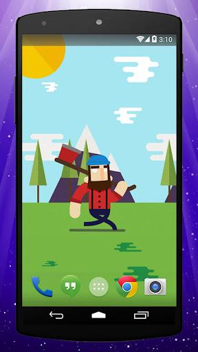 Lumberjack Live Wallpaper