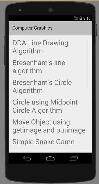 Midpoint Line Drawing Algorithm In Computer Graphics Pdf : Computer graphics c programs android apps on google play