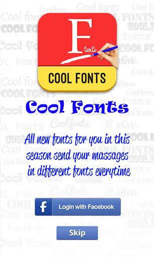 Cool Fonts facebook N whatsapp