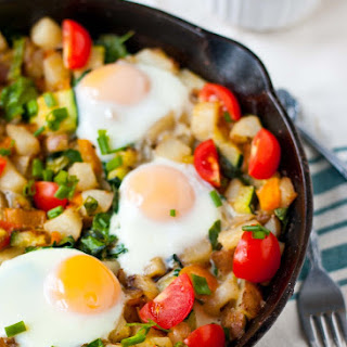 Potato, Bell Pepper, and Spinach Hash