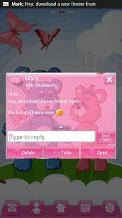 GO SMS Pro Theme teddy bears - screenshot thumbnail