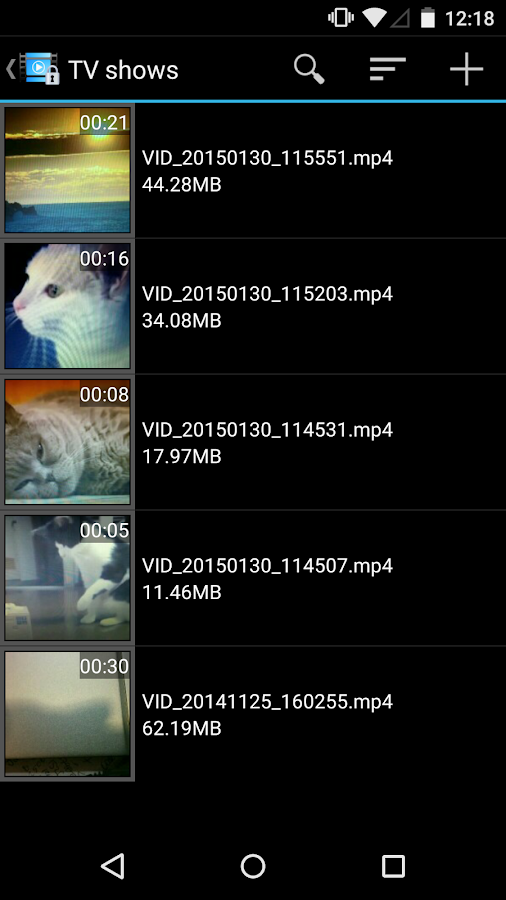 Video Locker - Hide videos - screenshot