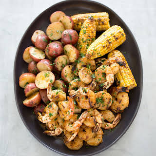 Maryland-Style Grilled Shrimp and Corn.