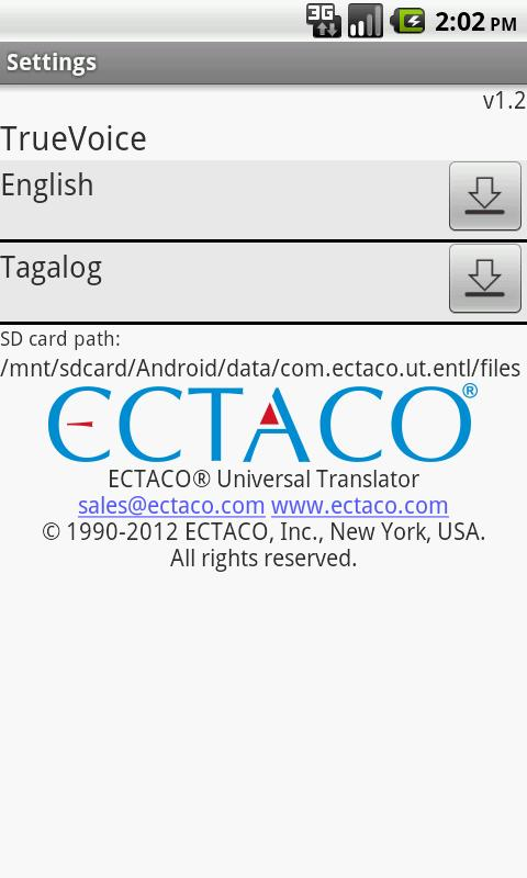 English - Tagalog Translator - screenshot
