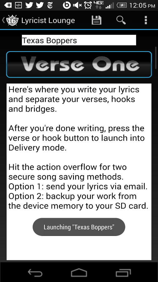 SWEET 16's for Songwriting - screenshot
