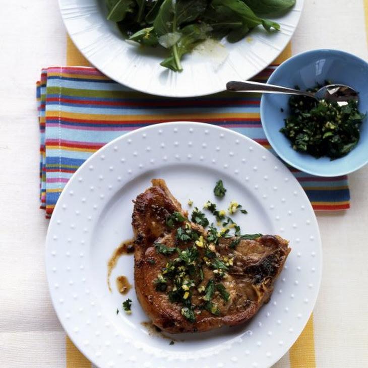 Lemon-Parsley Pork Chops Recipe