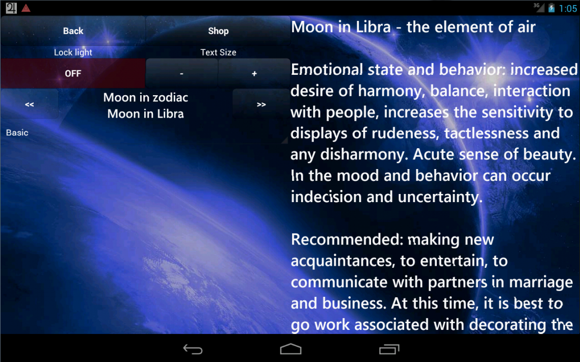 Lunar Calendar. Health- screenshot