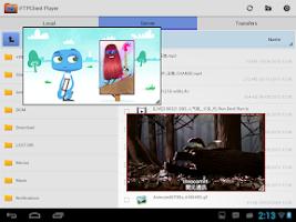 Screenshot of FTP Player (client)