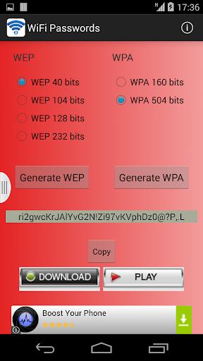 WiFi Passwords 2015