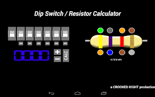 Screenshot of Dip Switch / Resistor Calc.