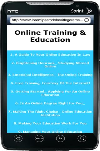 Online Education And Training - screenshot
