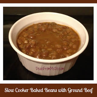 Slow Cooker Baked Beans with Ground Beef.