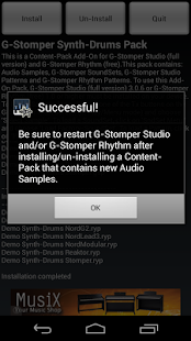G-Stomper Synthetic-Drums Pack - screenshot thumbnail