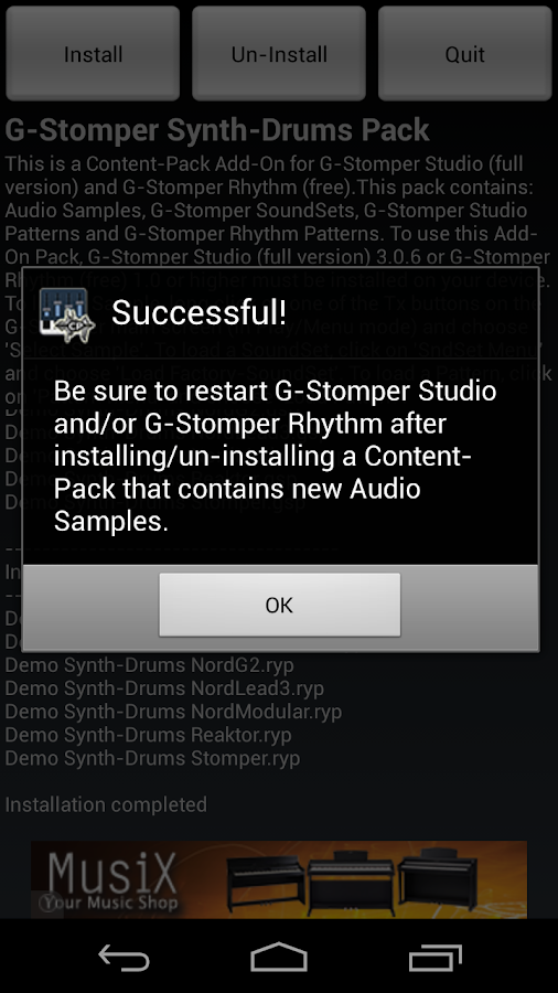 G-Stomper Synthetic-Drums Pack - screenshot