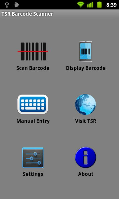 TSR Barcode Scanner - screenshot