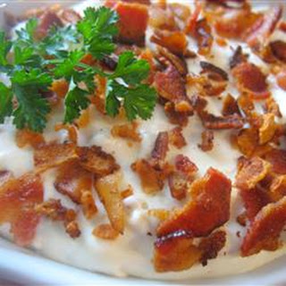 World's Best Bacon Cheese Dip.