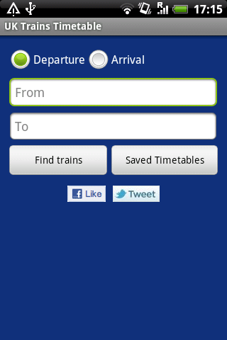 UK Trains Timetable Free - screenshot