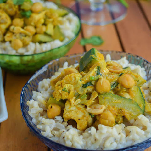 Thai Pumpkin Chicken Curry with Coconut Ginger Brown Rice