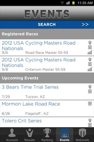My USA Cycling- screenshot