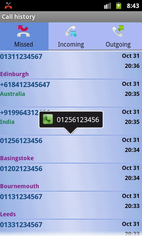 Caller Info (United Kingdom)- screenshot