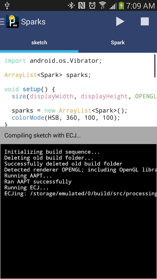 APDE - Android Processing IDE - screenshot