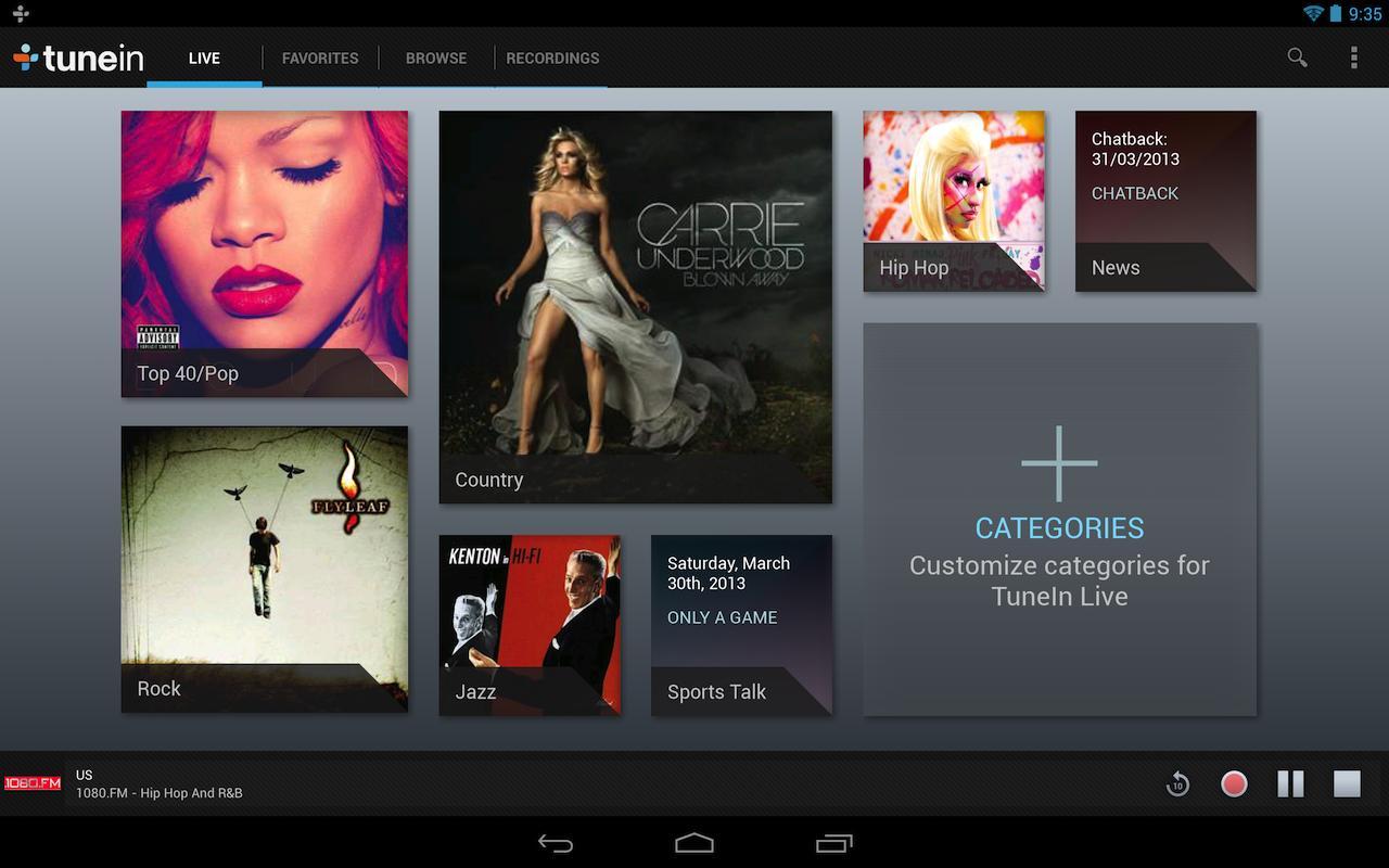 TuneIn Radio Pro - screenshot