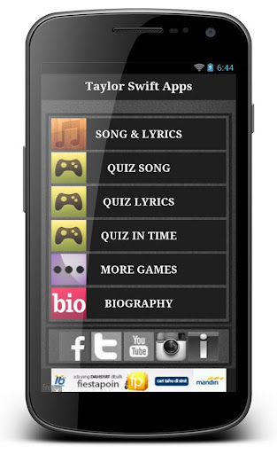 Taylor Swift Blank App