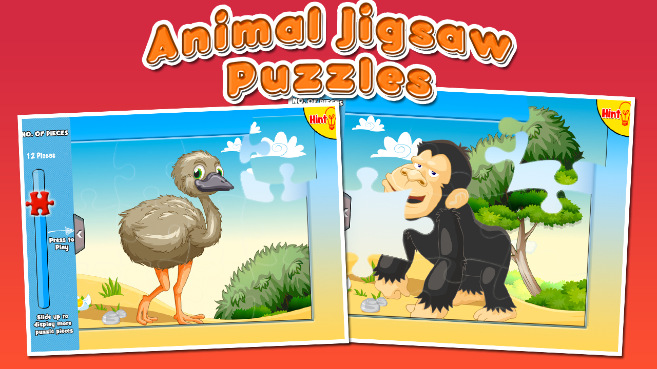 Kids Animals Jigsaw Puzzles- screenshot